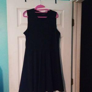 Black Midi Skater Dress